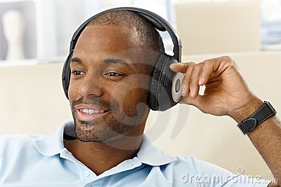 Portrait of man with headphones