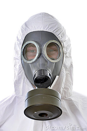 Portrait of a man in protective wear isolated