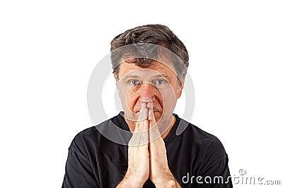 Portrait of man in sorrow