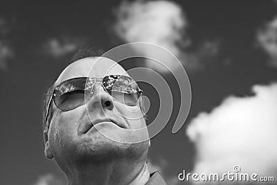 Portrait of man in sunglasses