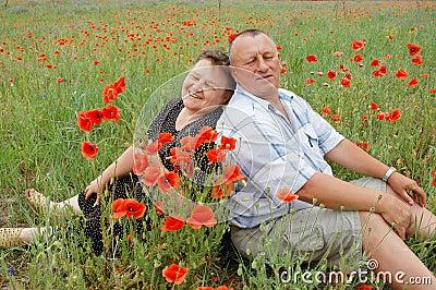 Portrait marriage couple