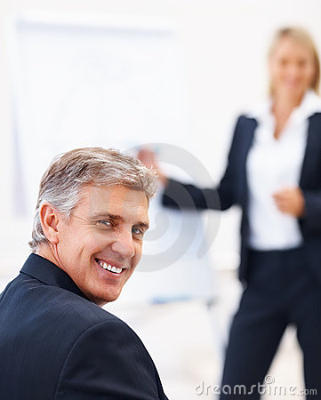Portrait of a mature business man smiling