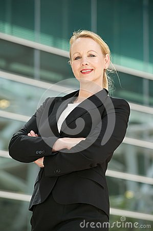 Portrait of a mature businesswoman smiling outdoor