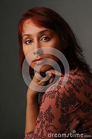 Portrait of mature charming woman