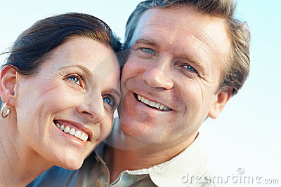 Portrait of a mature couple smiling together
