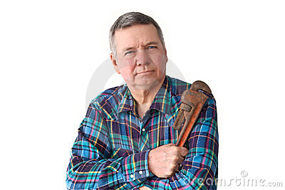 Portrait of Mature DIY plumber