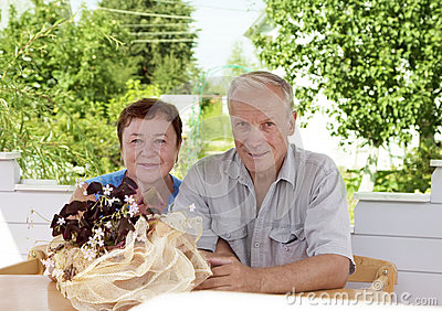 Portrait of mature happiness couple
