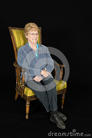 Mature Senior Elderly Woman Portrait