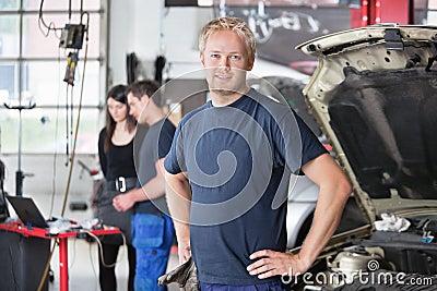Portrait of Mechanic in Shop