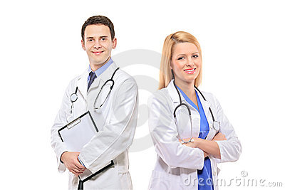 A portrait of a medical team of doctors