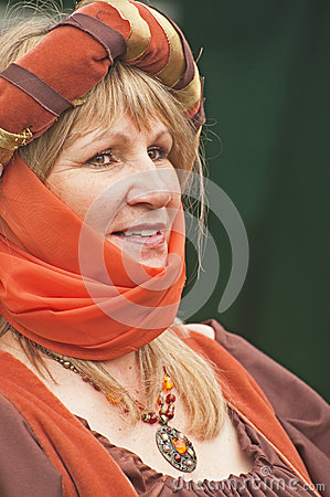 Portrait of medieval Lady Editorial Image