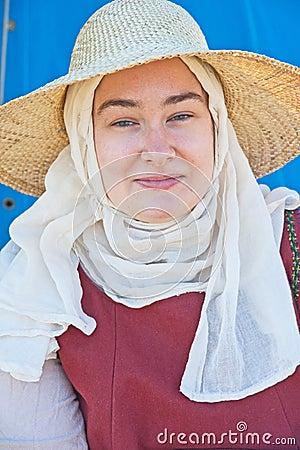 Portrait medieval woman Editorial Stock Photo