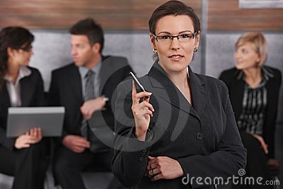 Portrait of mid-adult businesswoman