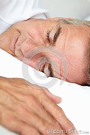 Portrait of mid age man sleeping