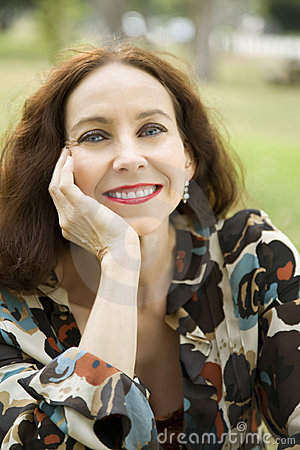 Portrait of a middle age woman