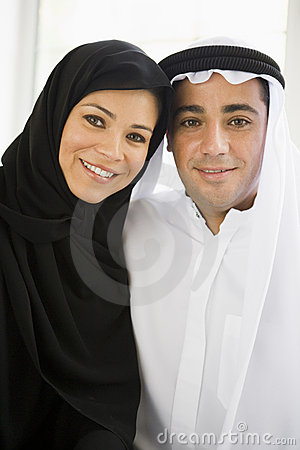 Portrait of a Middle Eastern couple