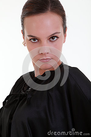 Portrait of mistery pretty woman