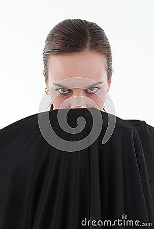 Portrait of mistery woman
