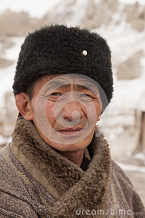 Portrait of Mongolia craftsman Editorial Photo