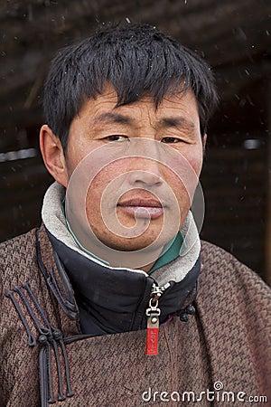 Portrait of a Mongolian herdsman Editorial Image