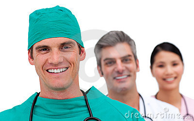 Portrait of a multi-ethnic medical team