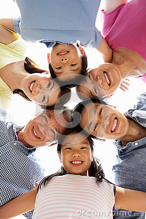 Portrait Of Multi-Generation Chinese Family