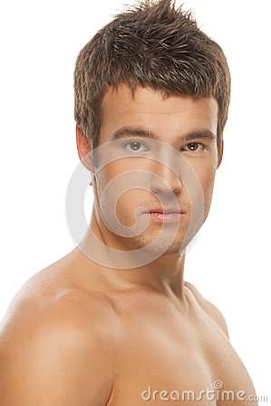 Portrait of a muscular man