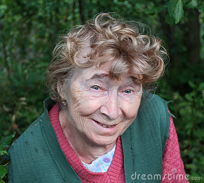 Portrait of a nice aged woman