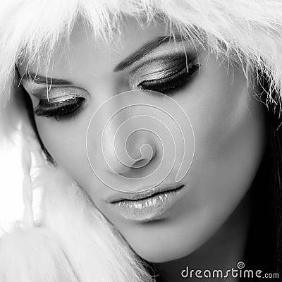 portrait noir et blanc de charme de plan rapproch photos libres de droits image 35320858. Black Bedroom Furniture Sets. Home Design Ideas