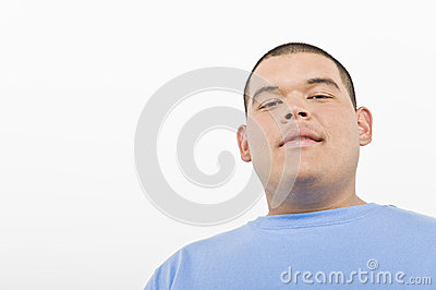 Portrait Of An Obese Young Man