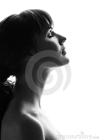 Free Portrait Of A Beautiful Girl. Profile Royalty Free Stock Images - 11601419