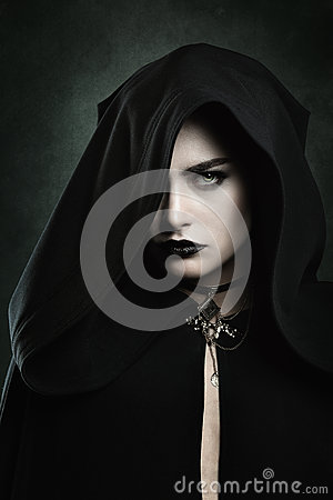 Free Portrait Of A Beautiful Vampire Woman Stock Image - 78617821