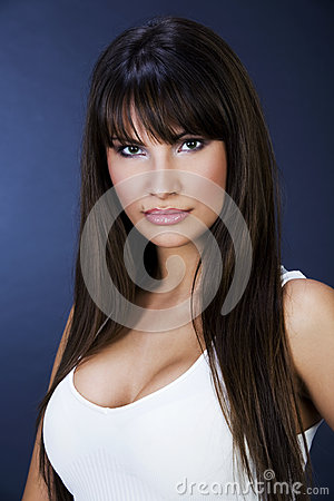 Free Portrait Of A Beautiful Women With Big Boobs Royalty Free Stock Images - 41994209