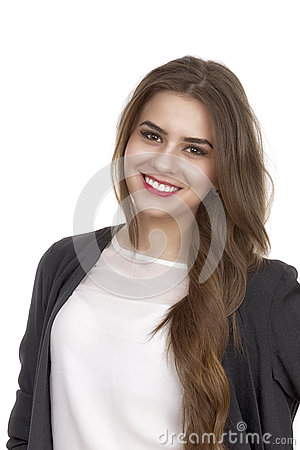 Free Portrait Of A Cute Young Business Woman Smiling Stock Photography - 41299342