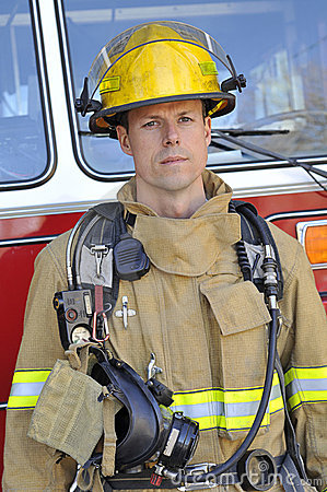 Free Portrait Of A Fireman Stock Photo - 8472610