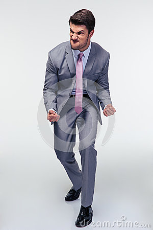 Free Portrait Of A Furious Businessman Royalty Free Stock Photos - 55129918