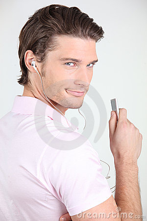 Free Portrait Of A Man Listening To Music Stock Photo - 17988980