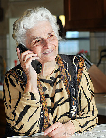 Free Portrait Of A Senior Woman Talking On The Phone Royalty Free Stock Image - 7590256