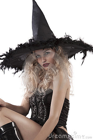 Free Portrait Of A Sensual Looking Witch Royalty Free Stock Photography - 21494737