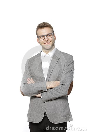 Free Portrait Of A Successful Young Businessman. On White Stock Photo - 118275050