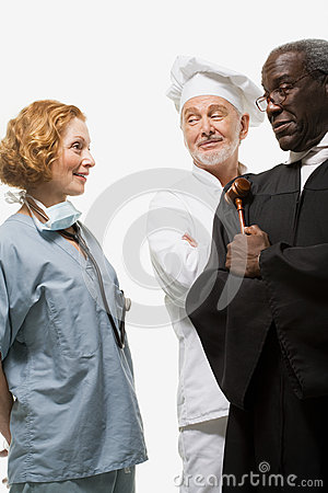 Free Portrait Of A Surgeon A Judge And A Chef Stock Photo - 36095640