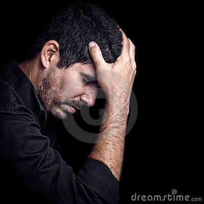 Free Portrait Of A Very Sad Young Hispanic Man Stock Photo - 23853250