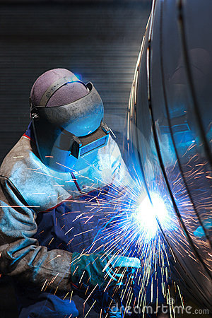 Free Portrait Of A Welder Royalty Free Stock Image - 16146786