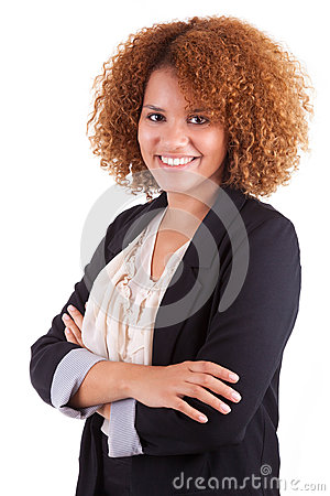 Free Portrait Of A Young African American Business Woman - Black People Royalty Free Stock Image - 33803836