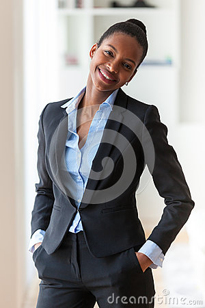 Free Portrait Of A Young African American Business Woman - Black People Royalty Free Stock Photography - 51712597