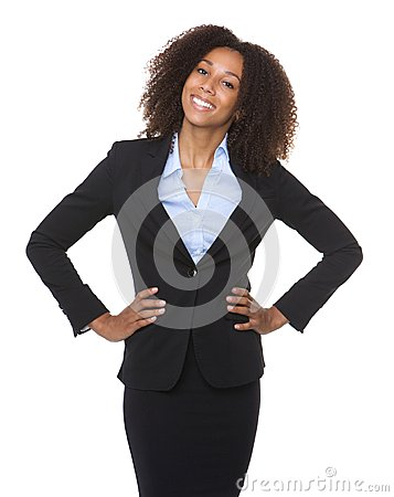 Free Portrait Of A Young Black Business Woman Smiling Stock Images - 43362074