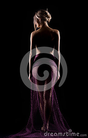 Free Portrait Of A Young Outgoing Beautiful Woman In A Lite Purp Stock Images - 65592564
