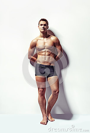 Free Portrait Of A Young Sexy Muscular Man Royalty Free Stock Images - 40255759