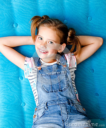 Free Portrait Of Adorable Smiling Little Girl Child Having A Rest Royalty Free Stock Photography - 97526157
