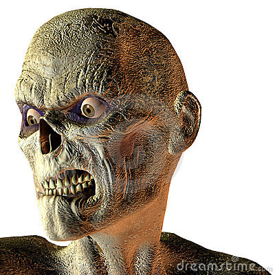 Free Portrait Of An Undead Royalty Free Stock Image - 15537696